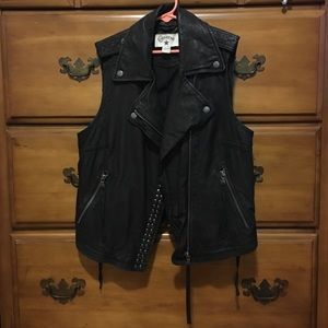Sleeveless Leather Jacket
